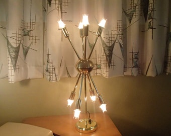 8 Arm Sputnik Table Light Mid Century Atomic Modern