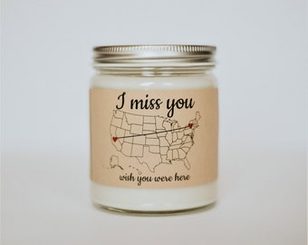 State Scented Candle, Miss You Gift, Homesick Gift, New Home Gift, Dorm Decor, Personalized Candle, Soy Candles Handmade, Homesick Candle