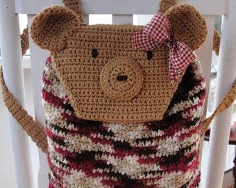 CROCHET PATTERN Teddy Bear Backpack