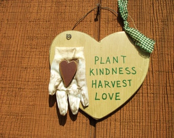 Garden Wall Hanging- Plant Kindness Harvet Love