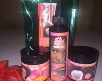 Chebe Hair Mix Most Popular products - Chebe Powder (Mix), Chebe Oil with Ostrich Oil, Chebe Paste with Tallow, chebe Coconut oil