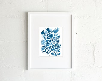 "The ""Blue Print"" Watercolor Print"