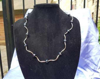 Glass crystal and spacer neckalce.