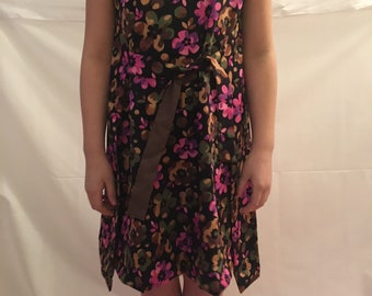 Girls 1960s Vintage style Reversible wrap dress size 12