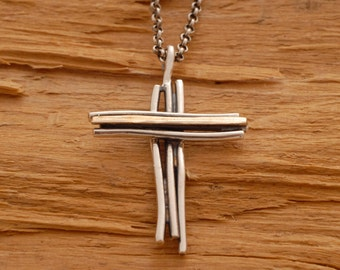 Men cross pendant Etsy