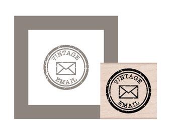 Vintage Email Rubber Stamp