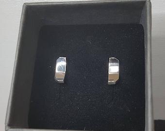 Hollow Octogoon Plate Earrings high gloss polished