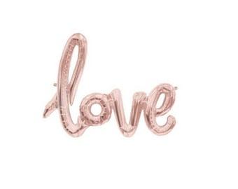 "40"" Rose Gold LOVE Balloon"
