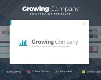 Growing Company Professional PowerPoint Template