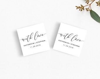 Wedding Favor Tags, Printable Wedding Favor Tags, With Love Wedding Favor Tags, DIY Wedding Favor Tags, Printable Favor Tags, PDF Templates