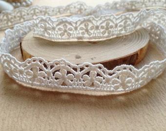 White Cotton Lace Trim, Cotton Net Lace Ribbon Trim, Mini Ribbon Lace, Christmas ribbon
