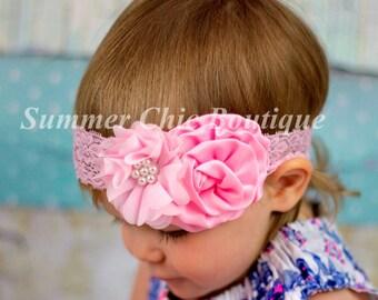 Baby Headband, Light Pink Baby Headband, Infant Headband, Newborn Headband, Easter Headband, Easter Baby Headband, Toddler Headband