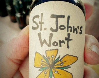 St Johns Wort tincture -- 1oz ORGANIC  FREE SHIPPING