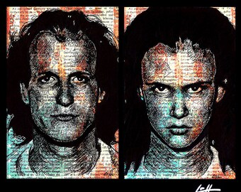 "Prints 11x17"" - Mickey and Mallory - Natural Born Killers Oliver Stone Quentin Tarantino Woody Harrelson Pop Art Juliette Lewis Horror Dark"