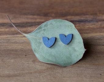 """Earrings """"Fin Herz"""" in blue by dearest sister"""