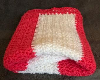 Candy Striped Crochet Baby Blanket