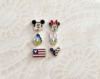 Mickey and Friends inspired floating charms for memory lockets