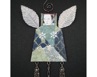 Christmas Angel Ornament - Mixed Media3