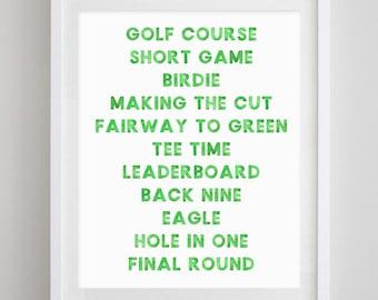 Golf Watercolor Art Print