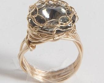 Smoky Birthstone ring , January, February, March, April, May, June, July , August, September, October,  November, December, birthstone rings