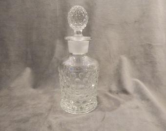 Vintage Clear Glass Hobnail Decanter