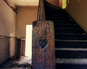 Abandoned photography, urban exploration, urbex, heart