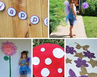 Fairy Party in a Box, Woodland Fairy Party in a Box, Fairy Costume, Fairy Banner, Fairy Confetti, Custom Parties by PartyAtYourDoor