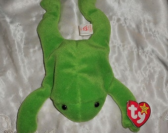 "Beanie Baby ""Legs"" the Frog    Rare First Edition  Original nine"