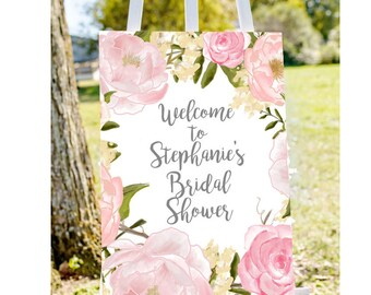 bridal shower welcome sign, Welcome to bridal shower sign, pastel bridal shower sign, floral bridal shower, printable welcome, bridal tea