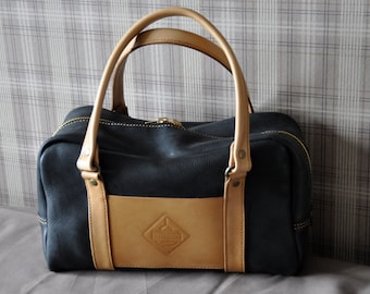 Leather handcrafted Boston bag