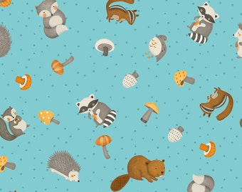 Cute Critters 67525-428 Cotton Fabric by Wilmington Prints