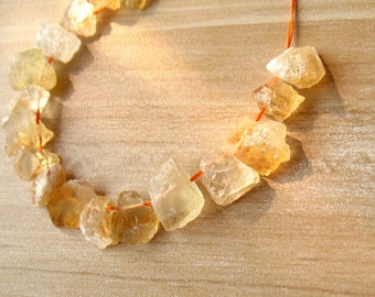 Natural Citrine Bead Top Drilled Rough Raw Yellow Citrine Crystals Quartz Nugget Beads Gemstone Beads Healing Crystal A185