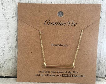 Proverbs 3:6 Necklace