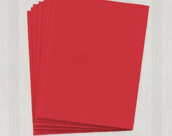 100 Sheets of Cover Stock - Red - DIY Invitations - Paper for Weddings & Other Events