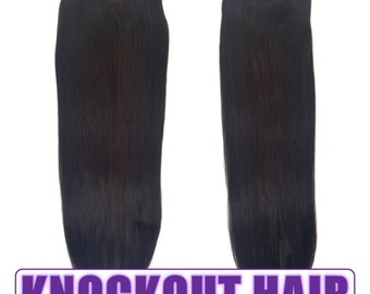 """Fits like a Halo Hair Extensions 20"""" Dark Red Brown (#4B) - Human No Clip In Flip In Couture by Knockout Hair"""