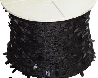 1125 yards/500gr Wholesale Black Sequin Novelty Yarn for Resale, designer, etc Ret 150 dollars