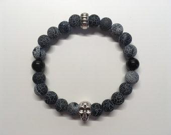 "gemstone pearl Bracelet ""Dark"""