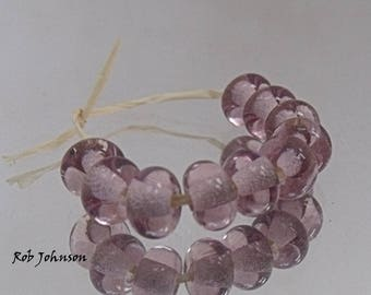 Pink, Artisan Lampwork Glass Beads, SRA, UK