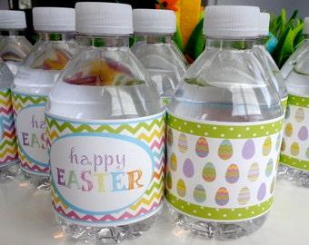 Easter Water Bottle Label Digital Download Egg Hunt Bunny Brunch Spring