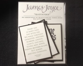 """James Joyce """"Quotatoes"""" Trading Cards"""