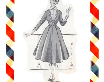 Vintage Sewing Pattern in any size including plus size 1949 PDF Instant Download Pattern no 21