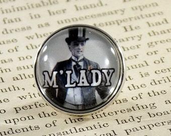 "Snap Charm Button ""M'LADY"" Meme Jewelry, Meme Gifts, Dank Memes, Vintage, Noosa, Ginger Snaps, Memes, Internet Humor"