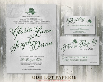 Fishing Printable wedding invitation and RSVP, Fishing Lure, typographic fonts, DIY Wedding Template, Rustic Wedding Invitations, DIY Invite