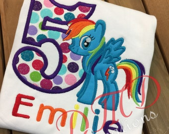 Rainbow Pony Birthday Shirt