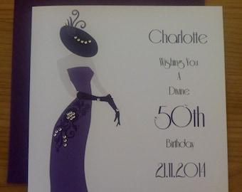 Handmade Personalised Birthday Card Any Age