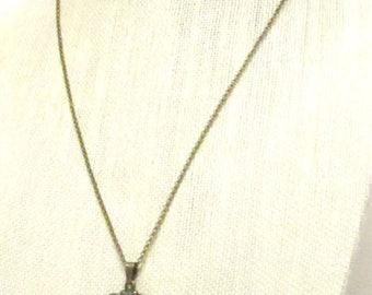 "21 1/2"" Antique Bronze Chain w/Antique Bronze Cameo Necklace #21192"