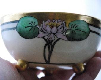 Vintage  Art Deco Nippon Japan Hand Painted Bon Bon Dish Bowl  1920's - 1930's