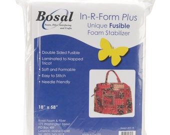 Bosal In-R-Form Plus Unique Fusible Foam Stabilizer Craft Supplies, 18 by 58-Inch, White