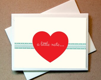 Valentines Card - Heart (24 cards and envelopes)