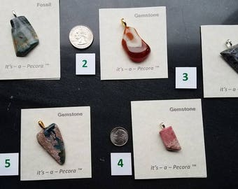 Five super unique #CrystalRockArts pendants hand crafted by Artisan #JimPecora